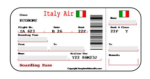 Boardingpass Return Flight Tickets Print Your