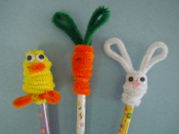 Easter pencil toppers for Easter crafts pipe cleaners
