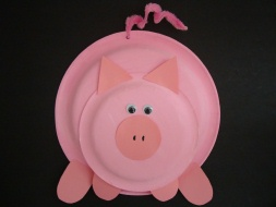 working mother in zion paper plate pig craft