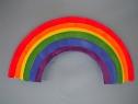 rainbow paper plates
